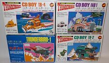 THUNDERBIRDS : THUNDERBIRD 1,2,4 & FAB 1 CD BOY MODEL KIT SET BY IMAI