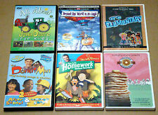 Lot of 6 Children Kids DVDs All About John Deere The Donut Man How to Do Homewor