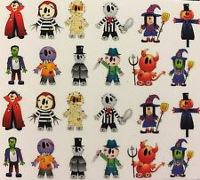 Nail Art Water Decals Halloween Mummy Witch Devil Scarecrow Zombie