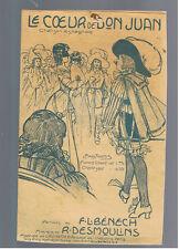 ANCIENNE PARTITION 1922 LE COEUR DE DON JUAN Chanson espagnole