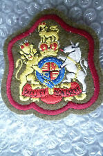 Patches- Corps of Army Dieu Et Mon Droit Badge – Red; General Service Corp(New*)