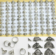 Hot 20PC Wholesale Lots Jewelry Mixed Style Tibet Silver Vintage Rings Free Ship