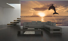Beautiful Dolphin Wall Mural Photo Wallpaper GIANT WALL DECOR PAPER POSTER