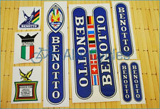Rare BENOTTO Flags Restoration Decals Kit Campagnolo Vintage Set  + 17 GIFT Stic