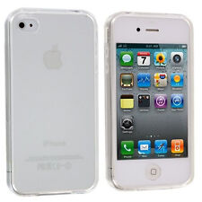 iPhone 4 4G 4S Clear Plain TPU Rubber Skin Case Cove Transparent Soft TPU Case