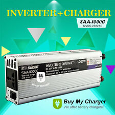 2-IN-1 Charger&Inverter 1000W DC 12v AC 220v Solar Power inverter w/ 10A Charge