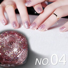 1 Flacon 10ml Nail Art Polish Vernis à Ongles avec Paillettes Brillantes #04