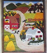 Pastoral Farm House Country Cow Landscape Vintage Longstitch Needlepoint Kit