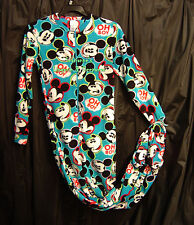 DISNEY MICKEY MOUSE FLEECE ADULT ONE PIECE ONESIE FOOTED FOOTIE PAJAMAS~1X~NEW