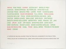 Hamish Fulton: Untitled (Text Work), 1991. Signed, Limited, Fine Art Print.