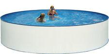 Stahlwandbecken Nuovo Pool Schwimmbecken 350 x 120 cm Komplettset rund