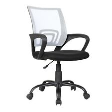 Ergonomic Mid-Back Executive Swivel White Mesh Office Chair Computer Furniture