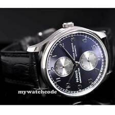 43mm parnis blue dial Luxury power reserve automatic movement mens watch P193