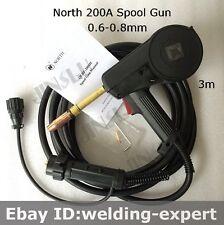 North 24KD MIG Spool Gun Push Pull Feeder Aluminum Welding Torch 3M Euro Connect