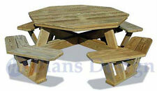 Traditional Octagon Picnic Table Woodworking Plans / Pattern #ODF06