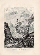 29 PLOGOFF SIZUN LEGENDE BAIE DES TREPASSES GRAVURE SUR BOIS 1885 WOOD ENGRAVING