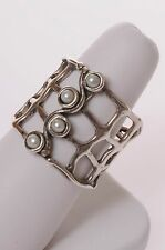 SHABLOOL ISRAEL DIDAE NEW handcrafted ladies 925 Silver ring with pearls size R