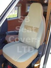 TO FIT A MERCEDES SPRINTER MOTORHOME, 2008, SEAT COVERS, SILVIA BEIGE SUEDE