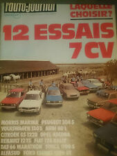 L'AUTO JOURNAL 1974 12 R12 TS CITROEN GS COX 1303 ESCORT 1300 GT FIAT 128 RALLY