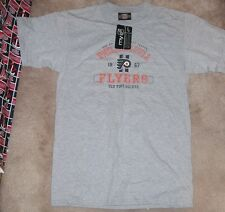 NEW NHL Philadelphia Flyers T Shirt Old Time Hockey L Large (measures small) NEW