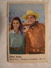 Maple Leaf Gum Card Series M.L. No. 14  Gene Autry