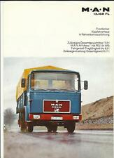 M.A.N. 13.168 FL TRUCK LORRY BROCHURE 1982?  GERMAN LANGUAGE