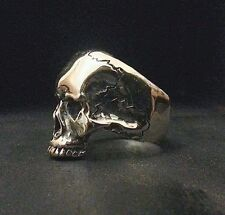 Sterling Silver Solid Skull Ring Keith Richards Rock n Roll Style