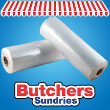 500 x Food Use Poly Polythene Counter Bags On Rolls 8'' x 10'' Butchers-Sundries