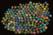 Super Rainbow Electric Fire Ethiopian Opal 5MM Calibrated Round Cabochons 181Pc
