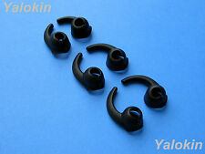 6pcs: 3 Pairs S/M/L (BK) Enhanced Fit Stabilizer tips for Jaybird X2 Headphones