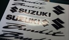 SUZUKI BANDIT 2 COLOUR DECALS/ STICKERS BLACK & SILVER restoration, respray etc