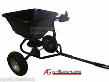 TOWABLE FERTILISER SEED SPREADER 45KG HOPPER RIDE ON MOWER ATV LAWNMOWER TOW