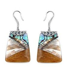 Silver Dangle Earrings Sterling 925 Shell Mother of Pearl Beach Jewelry Gift
