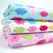 FQ BUNDLES - RAINBOW PIGGIES  - ALL COLOURS - 100% COTTON FABRIC NURSERY PIGS