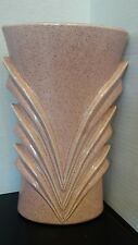 Red Wing Pottery Speckled Pink Art Deco Vase