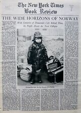 5-1944 May 7 WIDE HORIZONS OF NORWAY - NORWEGIAN STREET - NY Times Book Review