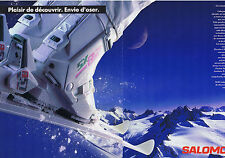 PUBLICITE ADVERTISING 094 1989 SALOMON chaussures de ski SX82 Lady (2 pages)
