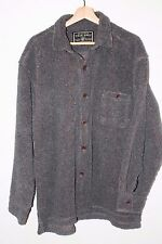 Men's TRUE GRIT American Outdoor Co Softest Cord Pile Big Shirt Gray Sz Large