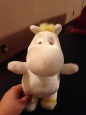 RARE PLUSH DOLL FIGURE  MOOMIN WHITE MOOMIN TROLL TOVE JANSSON BOOK TOY