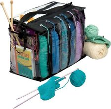 6 Skein Crocheting Supply Organizer Holder Knitting Yarn Craft Tote Bag Case