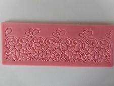 Heart Border Lace Fondant Gumpaste Mould Cake Decoration Bake Sugarpaste Icing