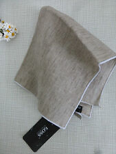 BNWT HUGO BOSS Light Beige 100% Linen Pocket Square Handkerchief Hankie