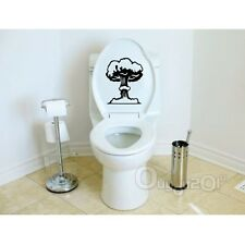 WALL STICKERS ADESIVO MURALE ADESIVI MURALI STICKER TOILETTE WC FUNGO NERO NEW
