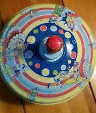 Vintage Schylling Metal Tin Toy Top - Circus
