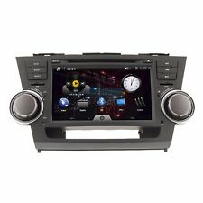 "8"" In Dash Car CD DVD Player GPS Navigation Radio Toyota Highlander 2008 - 2012"
