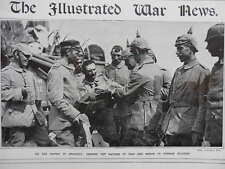 1914 GERMAN RATIONS OF BREAD AND HAM ON MARCH TO BRUSSELS WWI WW1