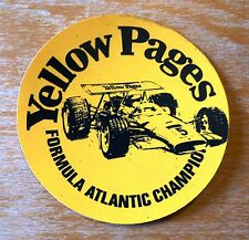 1970s Yellow Pages Formula Atlantic Championship Racing Motorsport Sticker Decal
