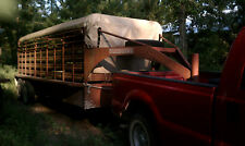 Gooseneck Cattle Stock Trailer Canvas Tarp Top Cover fits 24' x 6' wide