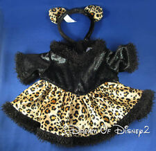 BUILD-A-BEAR CAT LADY LEOPARD DRESS & ACCESSORY EARS HEADBAND TEDDY CLOTHES