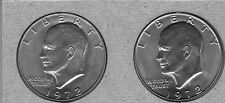 1972-P And 1972-D Uncirculated Eisenhower Dollars ( 2 Coin Lot )